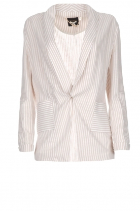 Fracomina |  Striped blazer Sandy | beige