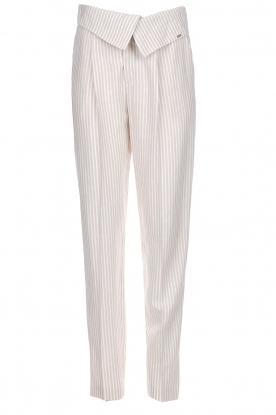 Fracomina |  Striped pants Bliss | beige