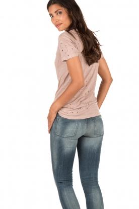 IRO | Linnen T-shirt Clay | roze