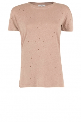 Linnen T-shirt Clay | roze