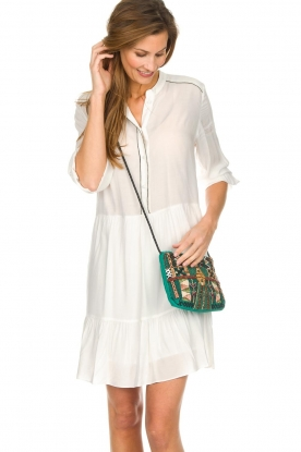 Dante 6 |  Dress with volant Lalique | white