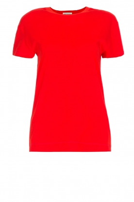 By Malene Birger | 100% katoenen t-shirt Rionns | rood