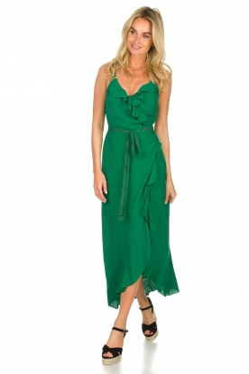 Dante 6 |  Dress with ruffles Isla | green