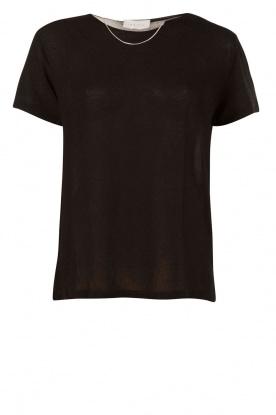 IRO | T-shirt met kettinkje Rikke | zwart