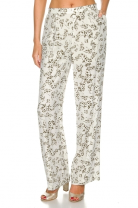 Dante 6 |  Floral trousers Emory | green