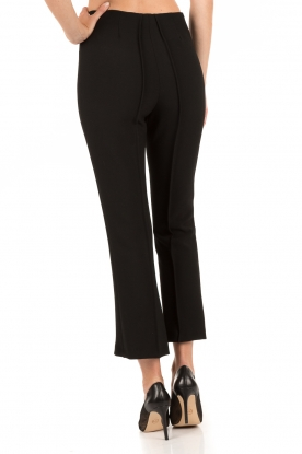 Cropped trousers Scaled | black