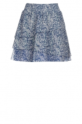Dante 6 |  Printed ruffle skirt Chess | blue