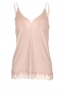 Rosemunde |  Top with lace Jasmin | old pink