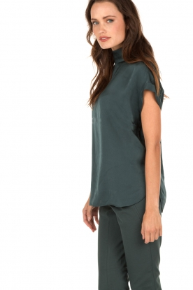 By Malene Birger | Zijden top Alsafi | petrol
