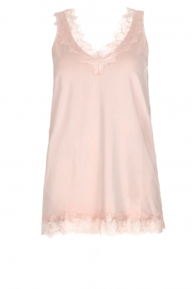 Rosemunde |  Top with lace Lela | old pink