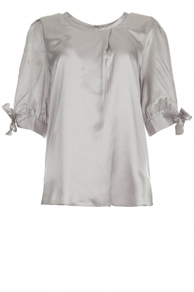 Dante 6 |  Satin top with bow cuffs Marble | grey