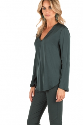 By Malene Birger | Zijden top Mizar | petrol