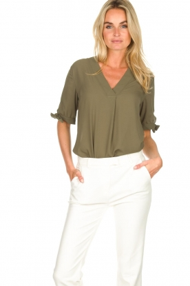 Dante 6 |  Top with bow sleeves Lana | green