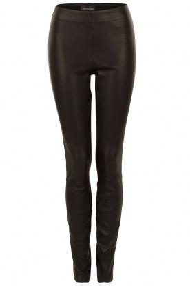 By Malene Birger | Leren legging Elanasoo | zwart
