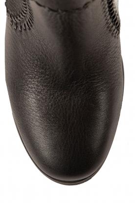 Lola Cruz | Leren laarzen Bombeada | zwart