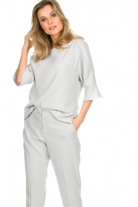 Dante 6 |  Top with trumpet sleeves Melia | light grey