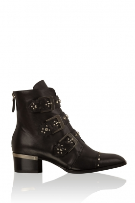 Leather biker boots Remache | black