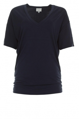 Dante 6 |  Long top with pleats Nuri | navy