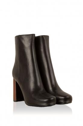 Lola Cruz | Leren laarzen Madera | zwart