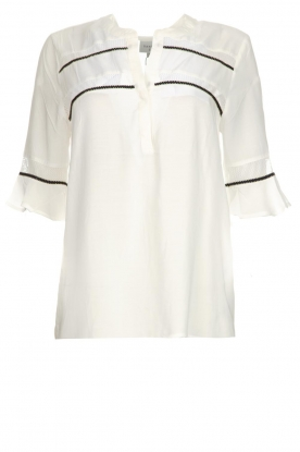 Dante 6 |  Top with embroidered details Byram | white