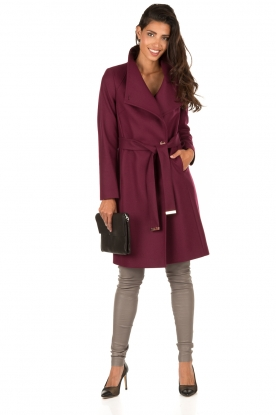 Ted Baker | Wollen trenchcoat Aurore | paars