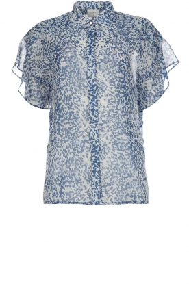 Dante 6 |  Printed blouse Arabella | blue