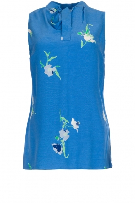 Dante 6 |  Sleeveless floral top Solene | blue