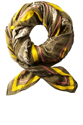 Dante 6 | Scarf with print Rokit | green