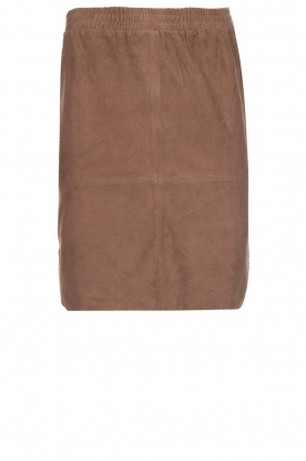 Dante 6 |  Suede skirt Jolijn | brown