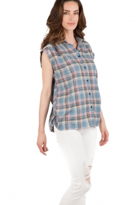 IRO | Geruite blouse Dally | blauw