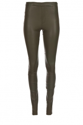 Dante 6 |  Leather leggings Campbell | green