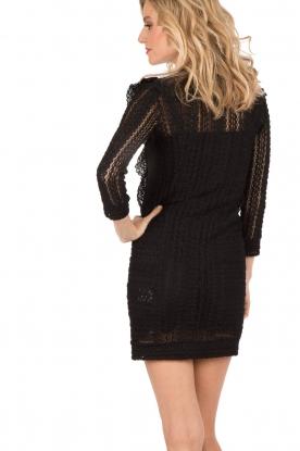 IRO | Kanten jurk Lark | zwart