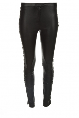 Dante 6 |  Leather pants with lace-up details Addict | black