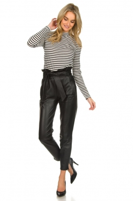 Dante 6 |  Leather trousers Duncan | black