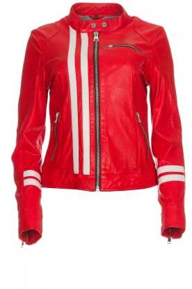 OAKWOOD | Leather jacket Joelle | red