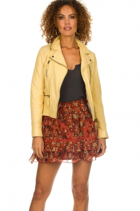 OAKWOOD | Leather jacket Roxanne | yellow