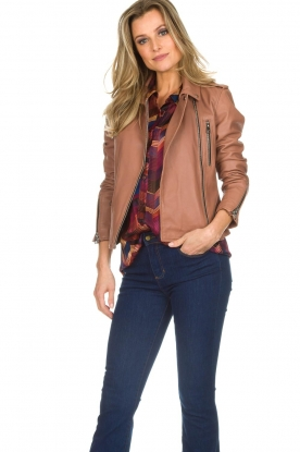 OAKWOOD | Leather jacket Olympe | nude