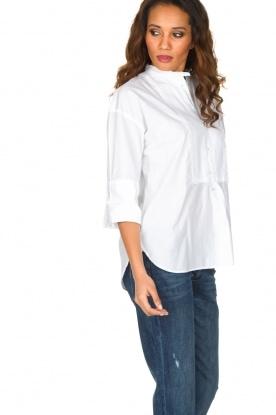 Hunkydory | Blouse Cherry Tuxedo Shirt | wit