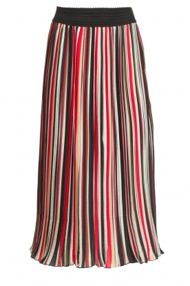 Aaiko |  Striped plisse skirt Philou | multi