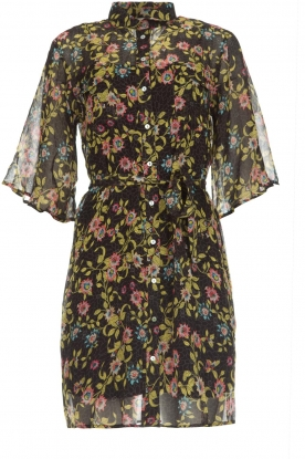 Aaiko |  Floral dress Emy | black
