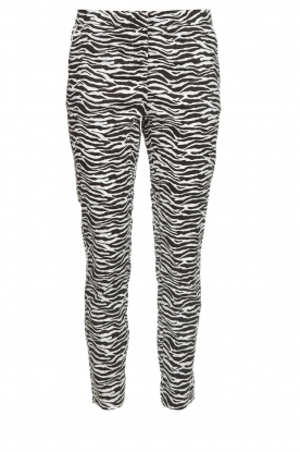 Aaiko |  Zebra print trousers Parien | black