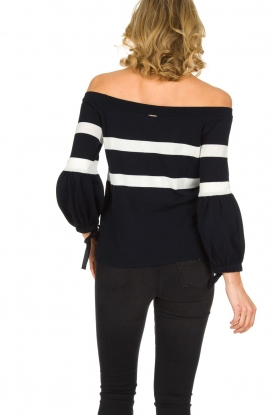 AnnaRita N | Off-shoulder top Arabella | donkerblauw
