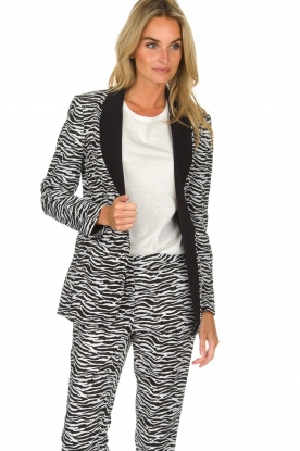 Aaiko | Blazer Zuzanna | black and white