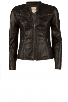Leather jacket Jay | black