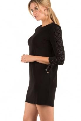 ELISABETTA FRANCHI | Lace-up jurk Carina | zwart