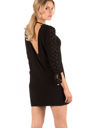 Lace-up dress Carina | black