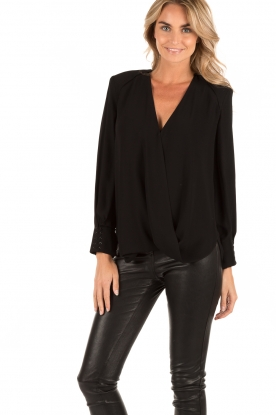 Wrap blouse Mirable | black