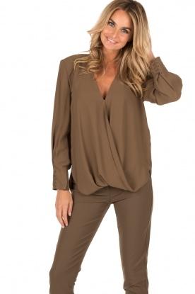 Wrap blouse Passezco | army green