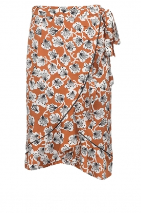 Aaiko |  Midi skirt with print Isadee | camel