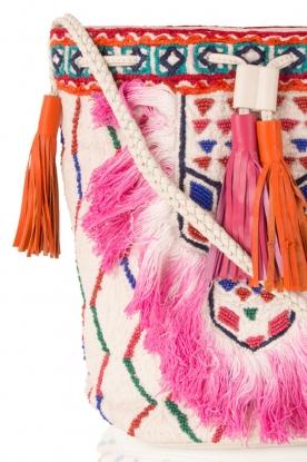 Antik Batik | Schoudertas Tiadoro | wit